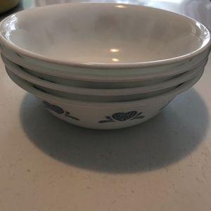 Corelle Country Blue Heart Bowls